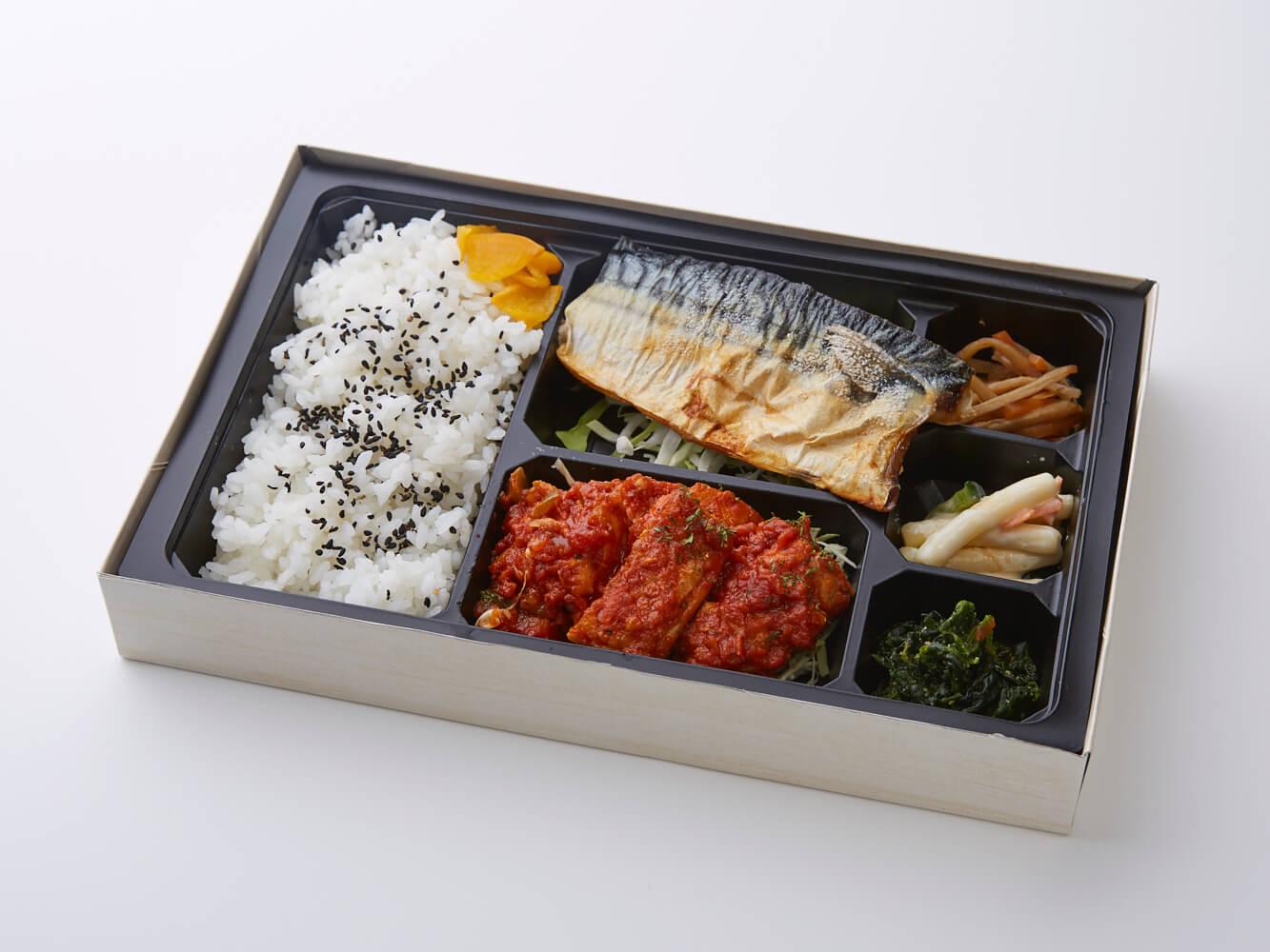 鯖塩焼き&選べる肉料理弁当